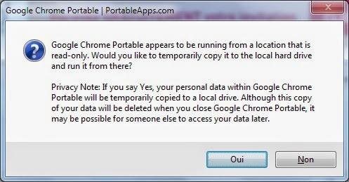 Fenêtre Google Chrome