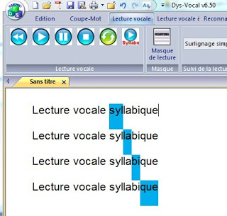 Progression lecture par syllabes